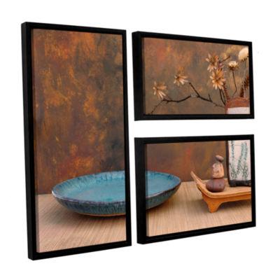 Brushstone Zen Still Life 3-pc. Flag Floater Framed Canvas Wall Art