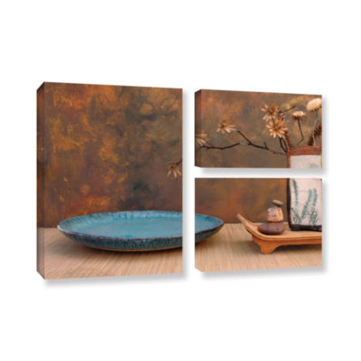 Brushstone Zen Still Life 3-pc. Flag Gallery Wrapped Canvas Wall Art