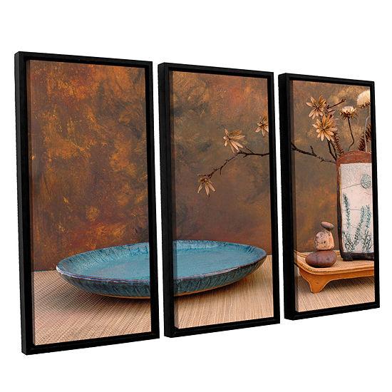 Brushstone Zen Still Life 3-pc. Floater Framed Canvas Wall Art
