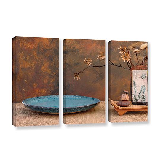 Brushstone Zen Still Life 3-pc. Gallery Wrapped Canvas Wall Art