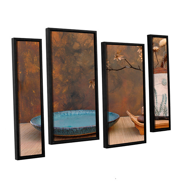 Brushstone Zen Still Life 4-pc. Floater Framed Staggered Canvas Wall Art