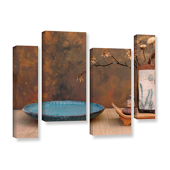Brushstone Zen Still Life 4-pc. Gallery Wrapped Staggered Canvas Wall Art