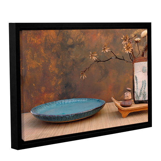 Brushstone Zen Still Life Gallery Wrapped Floater Framed Canvas Wall Art