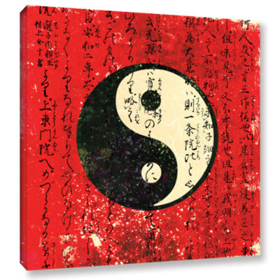 Brushstone Yin Yang Gallery Wrapped Canvas Wall Art