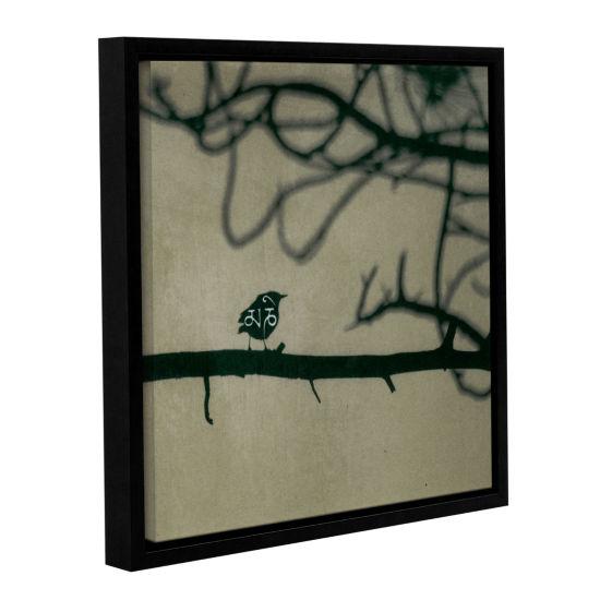 Brushstone Yoga Bird 2 Gallery Wrapped Floater-Framed Canvas Wall Art