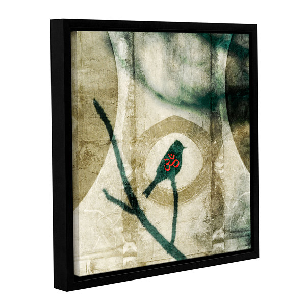 Brushstone Yoga Bird Gallery Wrapped Floater-Framed Canvas Wall Art