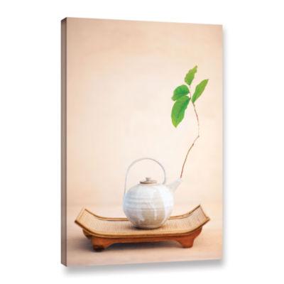 Brushstone Zen New Leaf Gallery Wrapped Canvas Wall Art