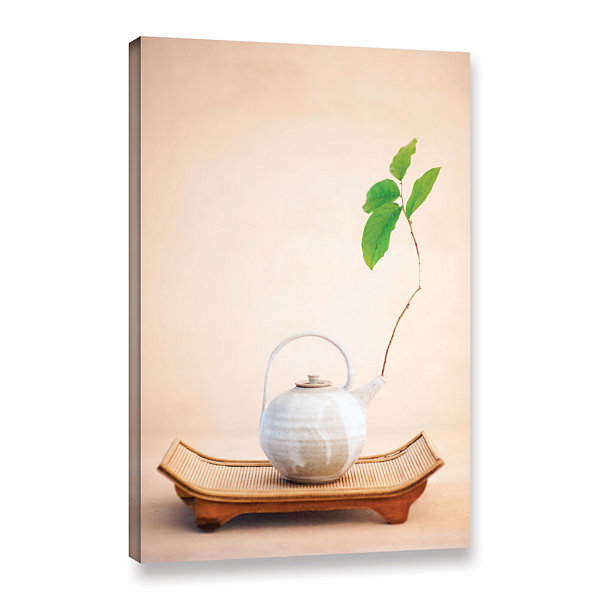 Brushstone Zen New Leaf Gallery Wrapped Canvas Wall Art
