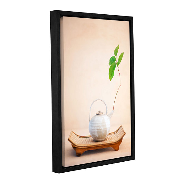 Brushstone Zen New Leaf Gallery Wrapped Floater-Framed Canvas Wall Art