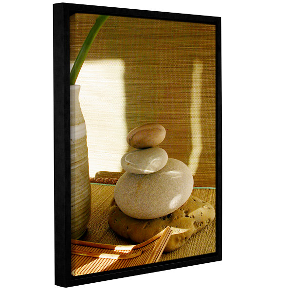 Brushstone Zen Spa Gallery Wrapped Floater-FramedCanvas Wall Art