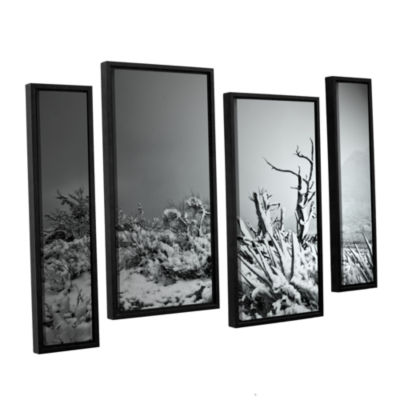 Brushstone You Just Do 4-pc. Floater Framed Staggered Canvas Wall Art