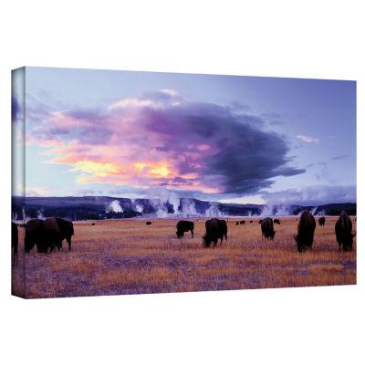 Brushstone Yellowstone Autumn Gallery Wrapped Canvas Wall Art