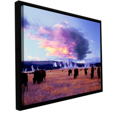 Brushstone Yellowstone Autumn Gallery Wrapped Floater-Framed Canvas Wall Art
