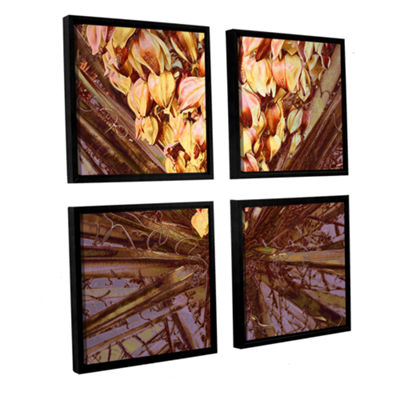 Brushstone Yucca Impression 4-pc. Square Floater Framed Canvas Wall Art