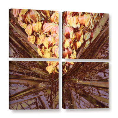 Brushstone Yucca Impression 4-pc. Square Gallery Wrapped Canvas Wall Art