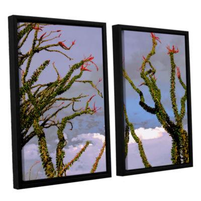 Brushstone Yuma Desert Spring 2-pc. Floater FramedCanvas Wall Art