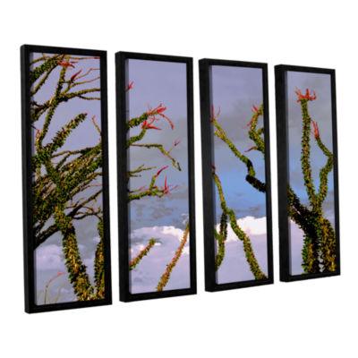 Brushstone Yuma Desert Spring 4-pc. Floater FramedCanvas Wall Art