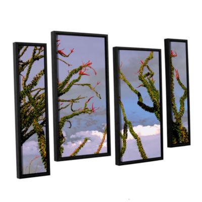 Brushstone Yuma Desert Spring 4-pc. Floater FramedStaggered Canvas Wall Art