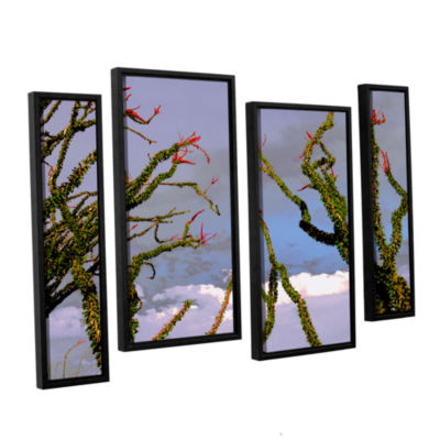 Brushstone Yuma Desert Spring 4-pc. Floater FramedStaggered Canvas Wall Art