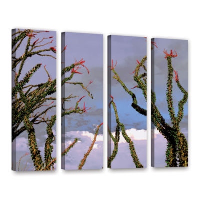 Brushstone Yuma Desert Spring 4-pc. Gallery Wrapped Canvas Wall Art