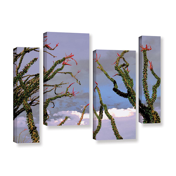 Brushstone Yuma Desert Spring 4-pc. Gallery Wrapped Staggered Canvas Wall Art