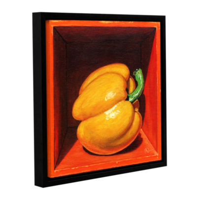 Brushstone Yellow Bell Gallery Wrapped Floater-Framed Canvas Wall Art