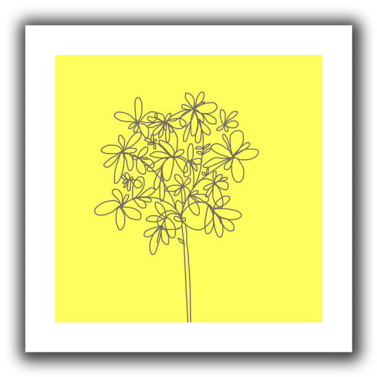 Brushstone Yellow Happy Flower Canvas Wall Art