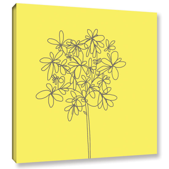Brushstone Yellow Happy Flower Gallery Wrapped Canvas Wall Art