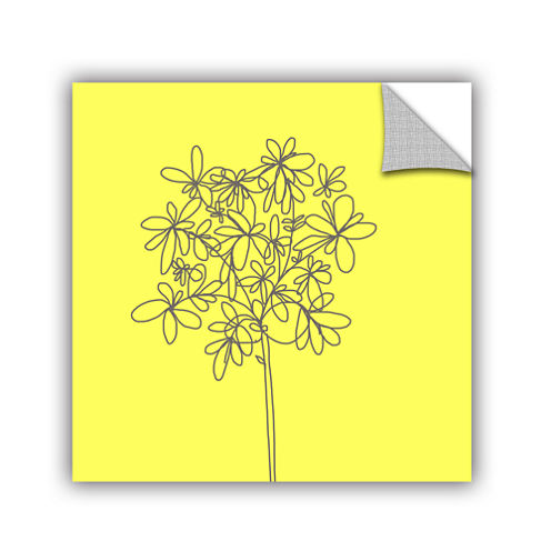 Brushstone Yellow Happy Flower Removable Wall Decal