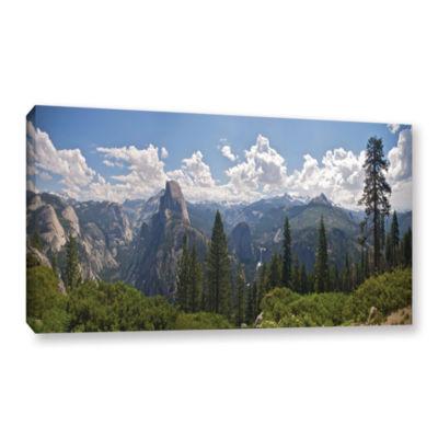 Brushstone Yosemite-Half Dome And Nevada Falls Gallery Wrapped Canvas Wall Art