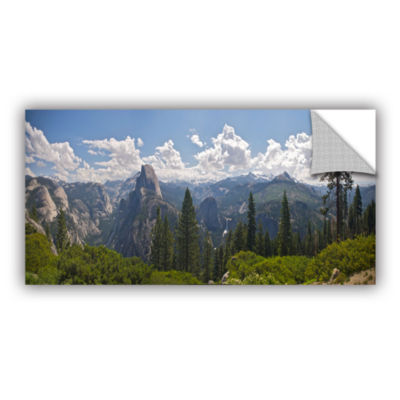 Brushstone Yosemite-Half Dome And Nevada Falls Removable Wall Decal
