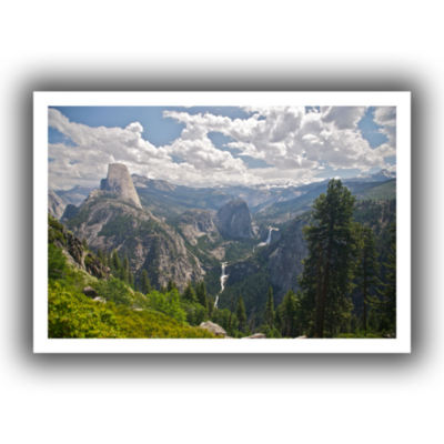 Brushstone Yosemite-Half Dome; Vernal Falls And Nevada Falls Canvas Wall Art