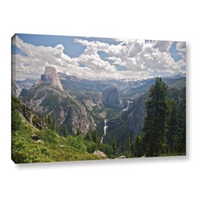 Brushstone Yosemite-Half Dome; Vernal Falls And Nevada Falls Gallery Wrapped Canvas Wall Art