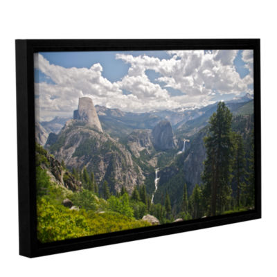 Brushstone Yosemite-Half Dome; Vernal Falls And Nevada Falls Gallery Wrapped Floater-Framed Canvas Wall Art