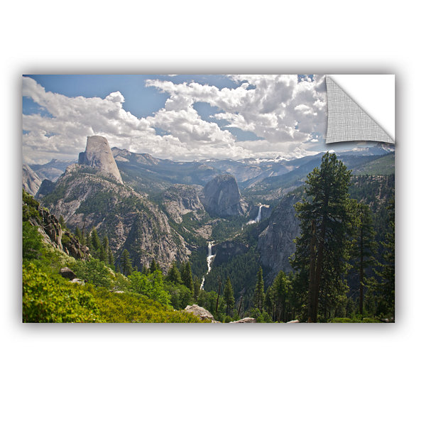 Brushstone Yosemite-Half Dome; Vernal Falls And Nevada Falls Removable Wall Decal