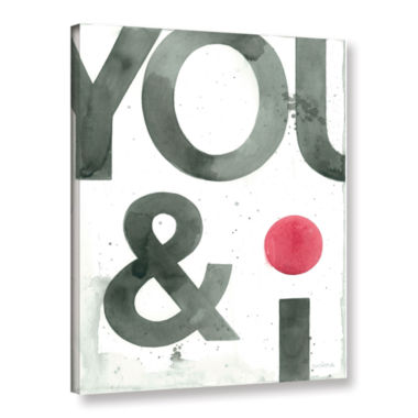 Brushstone You And I Gallery Wrapped Canvas Wall Art