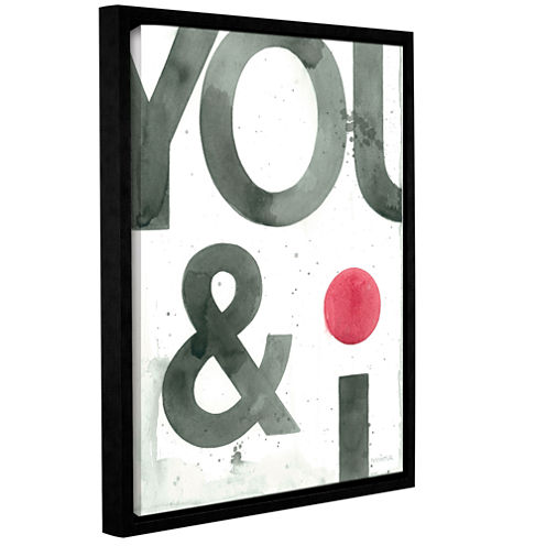 Brushstone You And I Gallery Wrapped Floater-Framed Canvas Wall Art