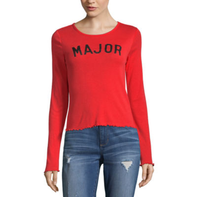 City Streets Long Sleeve Round Neck Graphic T-Shirt
