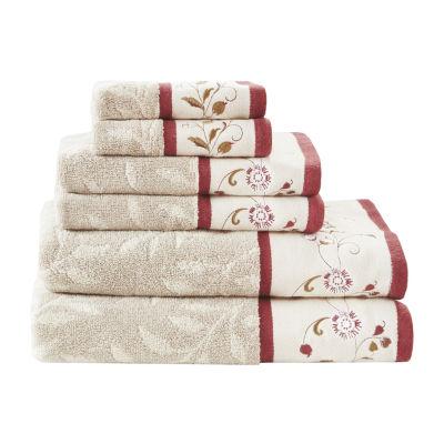 Madison Park Belle Embroidered Cotton Jacquard 6-pc. Bath Towel Set