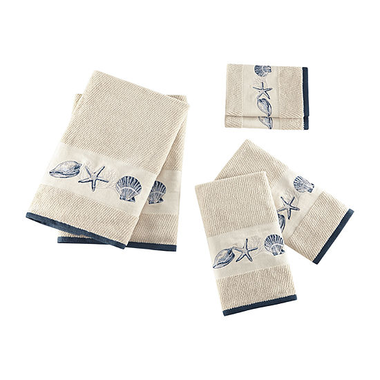 Madison Park Nantucket Embroidered Cotton Jacquard 6-pc. Beach + Nautical Bath Towel Set