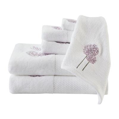 Madison Park Dandelion Embroidered Cotton 6-pc. Bath Towel Set