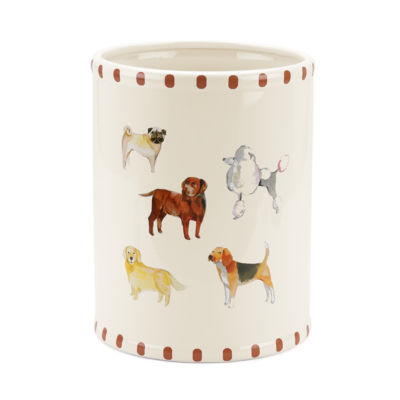 Avanti Dogs On Parade Waste Basket