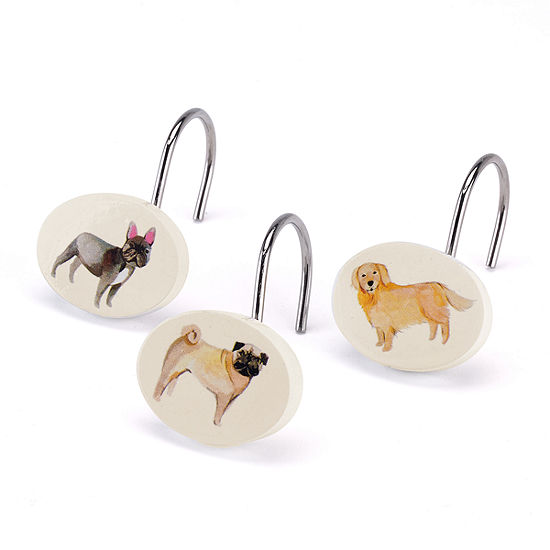 Avanti Dogs On Parade Shower Curtain Hooks