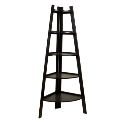 Danya B. Five Tier Corner Ladder Display Bookshelf