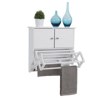 Danya B. Accordion Wall Mount Drying Rack with Cabinet