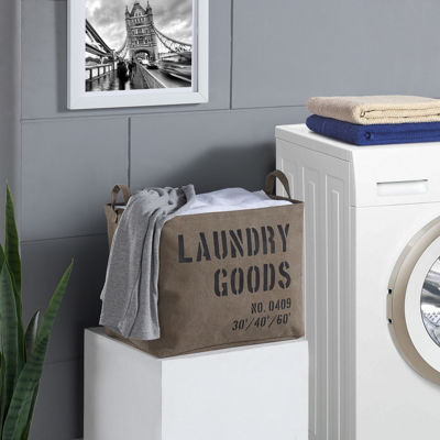 Danya B. Army Canvas Laundry Basket