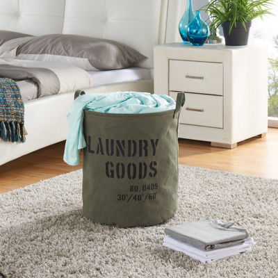 Danya B. Army Canvas Laundry Bucket