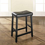 Upholstered Saddle Seat Counter Stool - Set of 2