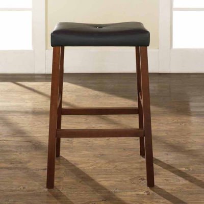Upholstered Saddle Seat Barstool - Set of 2