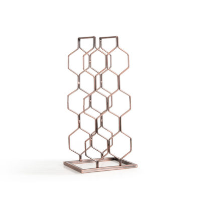 Danya B. Copper Electroplated 8 Bottle Wine Rack